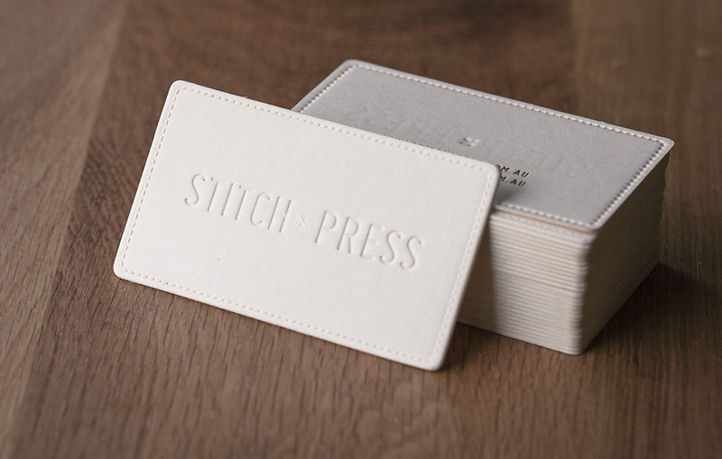 printed by Stitch Press | stitchpress.com.au | blind embossing and deboss with copper foil press