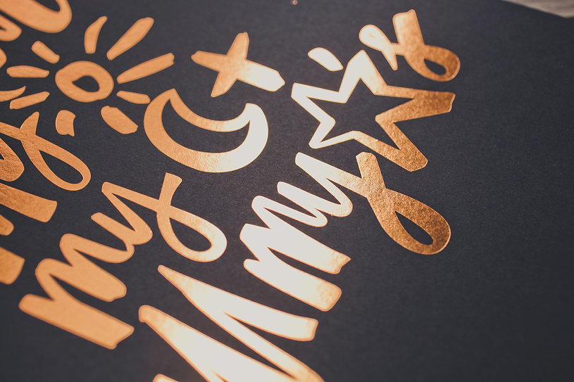 you are my sun, moon and stars | copper foil