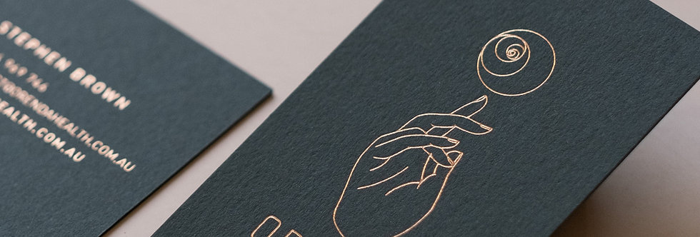 FOIL-PRESS BUSINESS CARDS