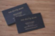 printed by Stitch Press | www.stitchpress.com.au | the Daily Mark matte gold foil business card