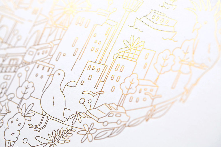 printed by Stitch Press | stitchpress.com.au | gloss gold foil art print