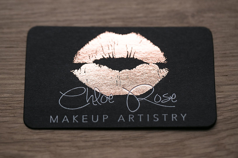 chloe rose | white foil-press | rose gold foil-press | die cutting