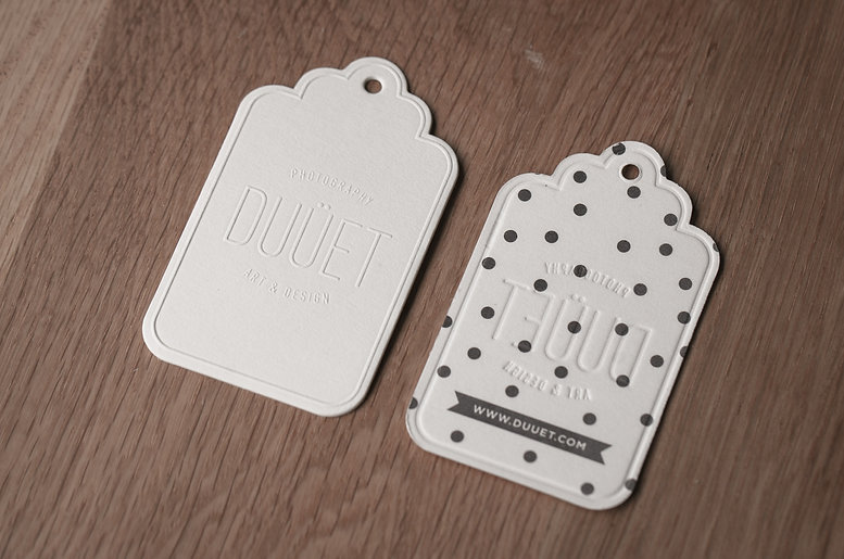printed by Stitch Press | stitchpress.com.au | blind embossed die cutting swing tags
