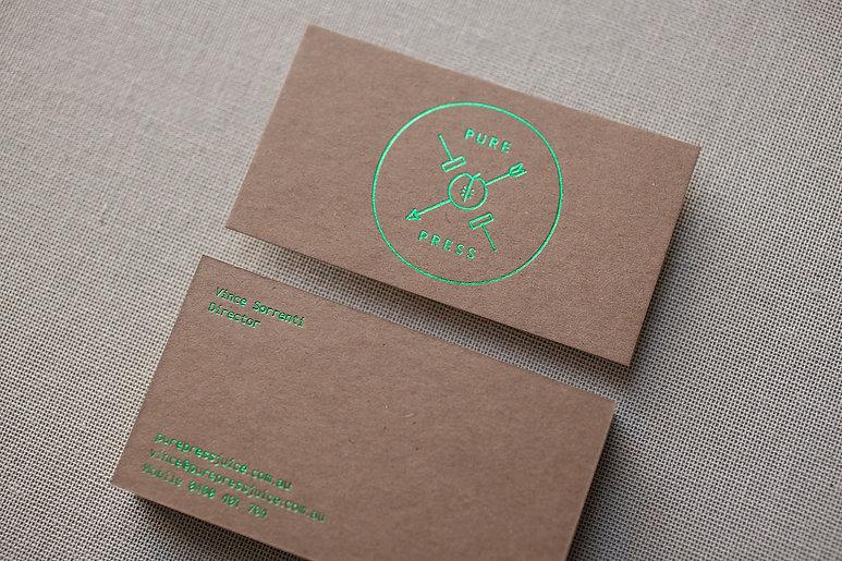 printed by Stitch Press | stitchpress.com.au | grass green foil on kraft card
