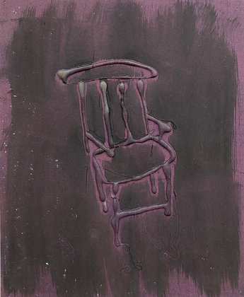 "PURPLE SANDPAPER CHAIR (11"" x 9"")"