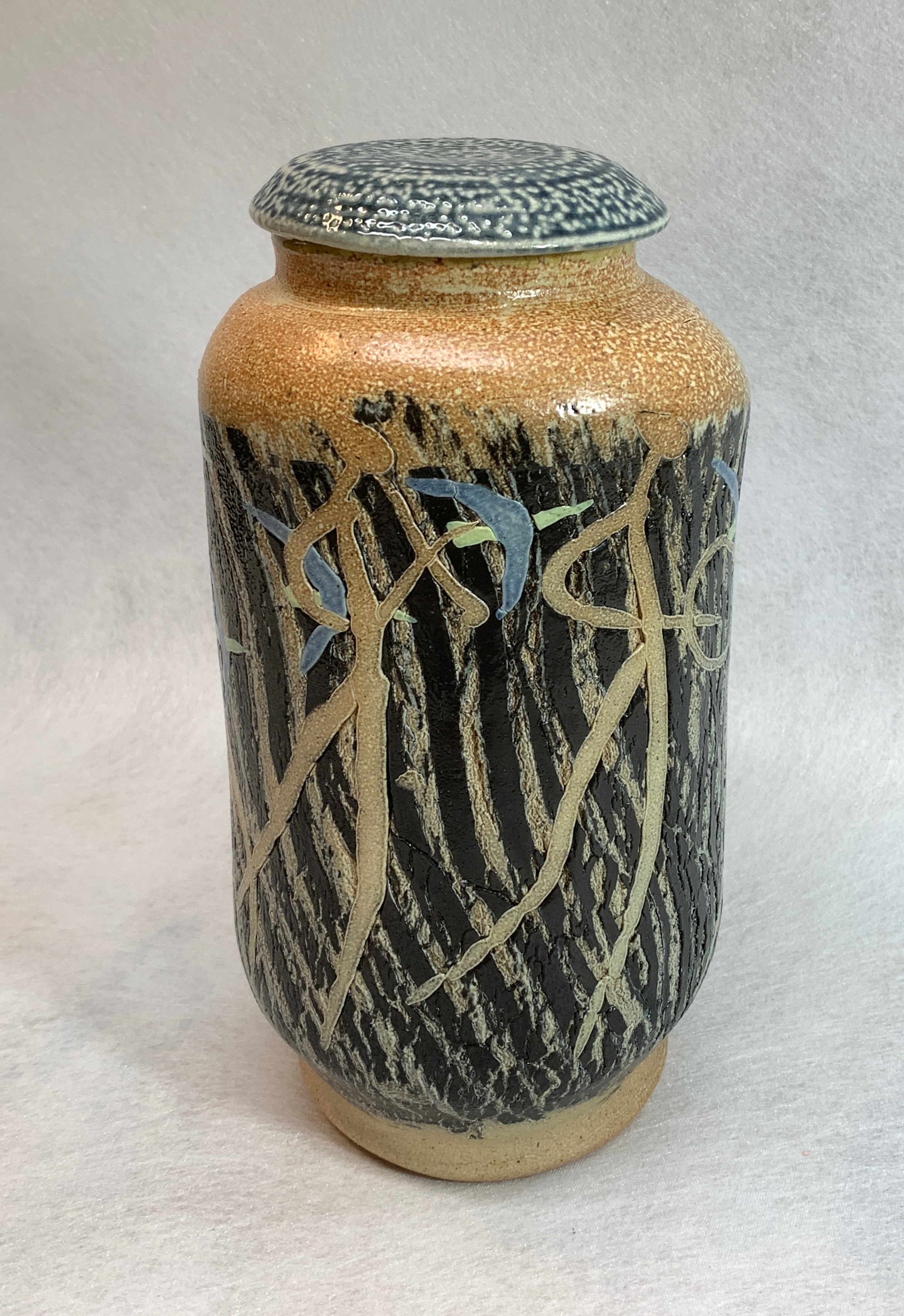 Piper Lidded Jar  $110