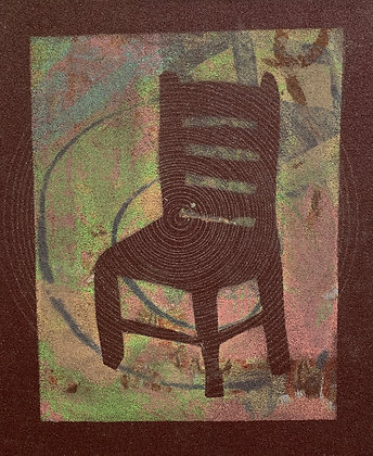 "BROWN SANDPAPER CHAIR (9"" x 7"")"