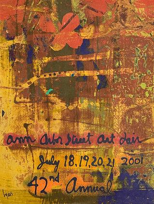 """ANN ARBOR STREET ART FAIR (25"""" X 19"""")"""