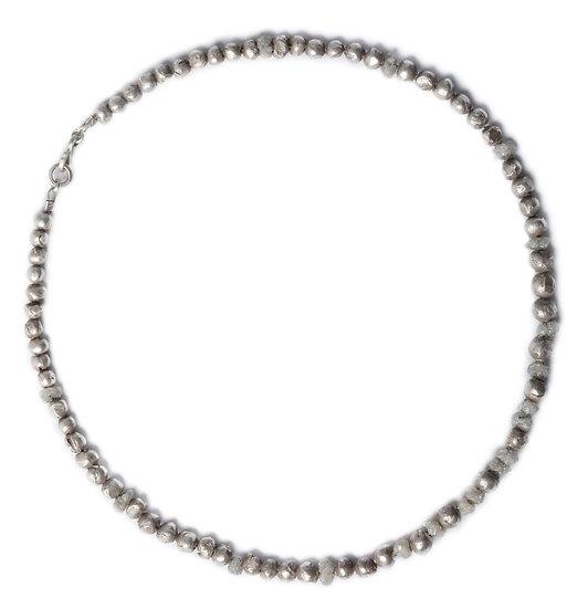 BAMBAM - rough diamond and handmade sterling silver beads