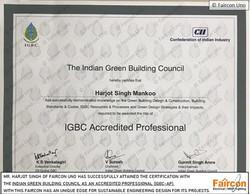 Harjot Singh IGBC-AP Certificate
