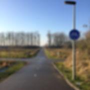 Fietspad aan de noord-zijde van de ecowijk | Ecowijk De Kiem