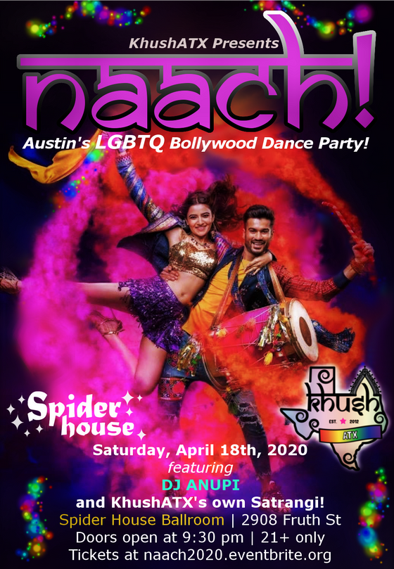 NAACH 2020! KhushATX Bollywood Dance Party!