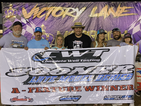 Hughes rolls to Sooner Series victory at Monarch Motor Speedway