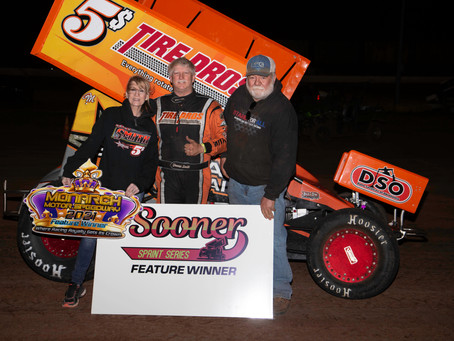 Smith wins inaugural Sooner Sprint Series feature at Monarch Motor Speedway