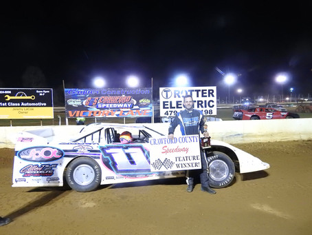 Allen wins Sooner Late Model season opener at Crawford County Speedway