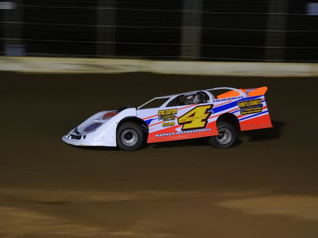 Hughes shakes off hard luck to win Sooner late model main at Enid Speedway