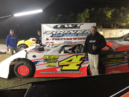 Hughes becomes seasons first Sooner Late Model repeat winner at Enid Speedway