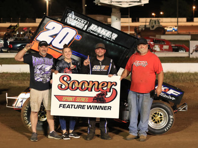Barksdale outruns Jennings for first Sooner Sprint Series victory