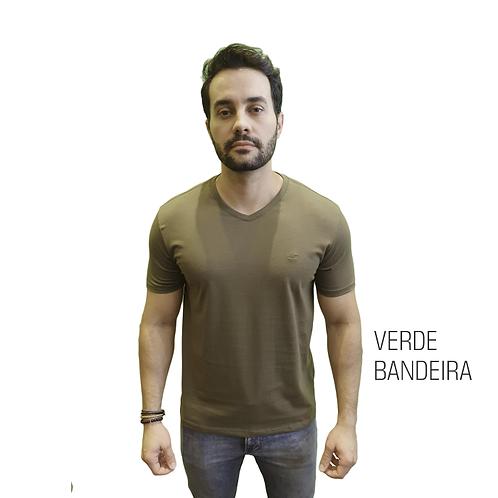 CAMISETA BÁSICA ELEMEN VERDE BANDEIRA GOLA V