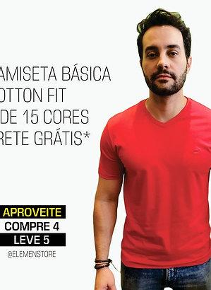 CAMISETA BÁSICA COMPRE 4 LEVE 5