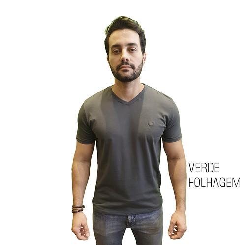 CAMISETA BÁSICA ELEMEN VERDE FOLHAGEM GOLA V