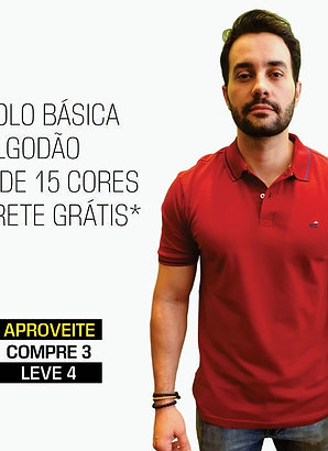 POLO BÁSICA COMPRE 3 LEVE 4