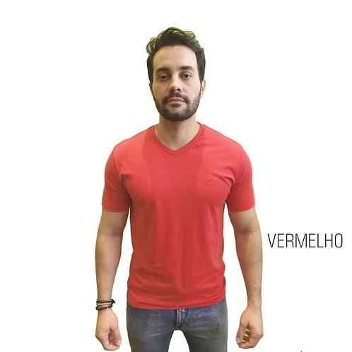 CAMISETA BÁSICA ELEMEN VERMELHO GOLA V