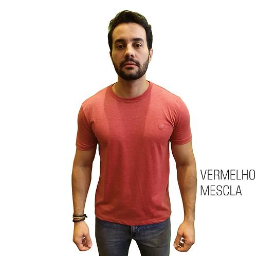 CAMISETA BÁSICA ELEMEN VERMELHO MESCLA