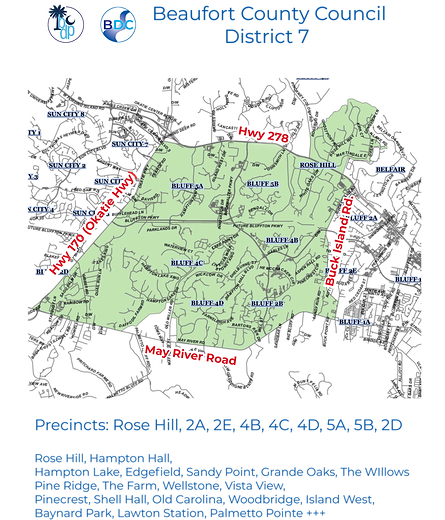 Beaufort County Council District 7 MAP 2