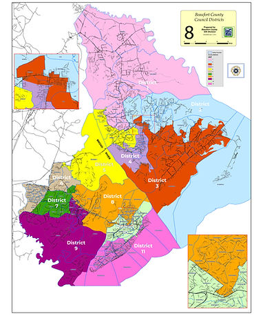County Council Districts- districts and