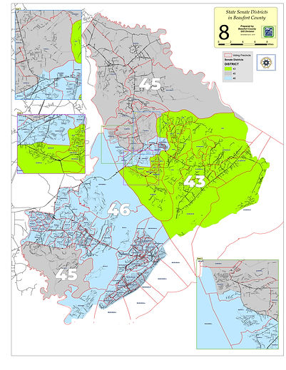 SC State Senate Districts in Beaufort Co