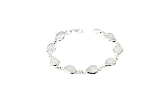 Sterling Silver Moonstone Teardrop Bracelet