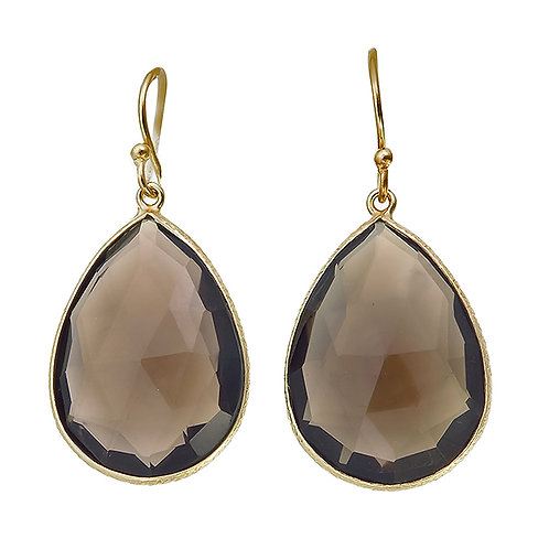 925 Smoky Quartz (L) earrings