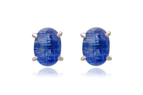 Sterling Silver Kyanite Stud Earrings