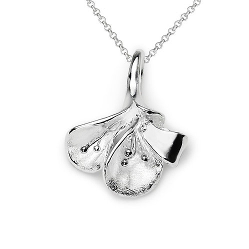 Flower Petal Pendant Necklace