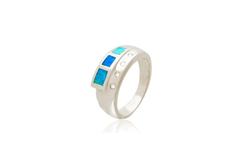 Sterling Silver Opal Inlay Ring