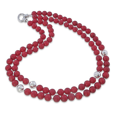 Coral Double Strand Necklace