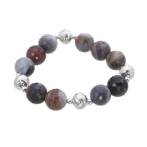 Grey Lace Agate Bracelet