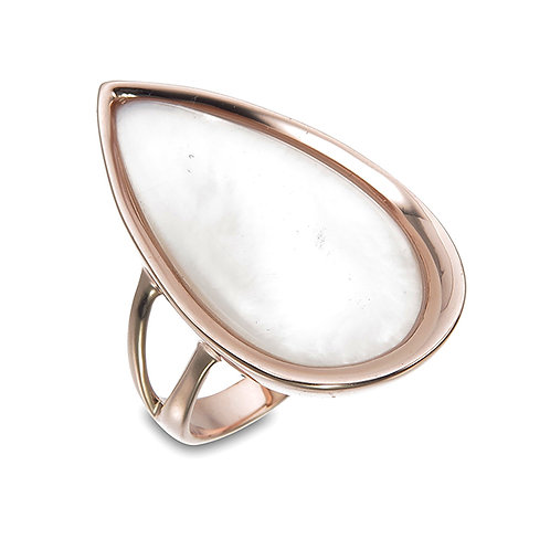 Rose Gold Mother of Pearl Ring