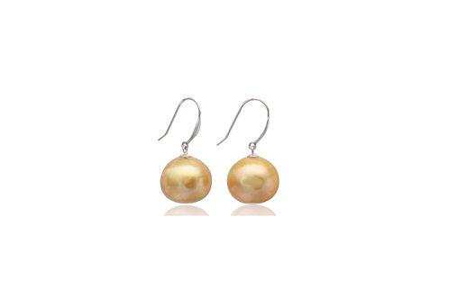 9K Gold Gold South Sea Pearl Earrings