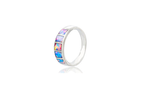 Steling Silver Australian Inlay Opal Ring