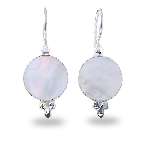 Mother of Pearl Earrings with three dots