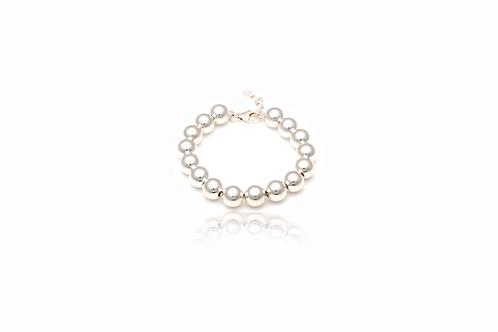 Sterling Silver 10mm Ball Bracelet