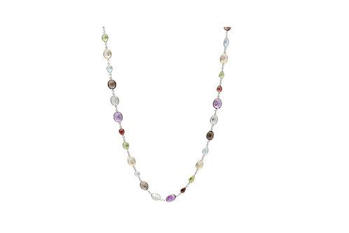 Sterling Silver Semi-stone Necklace