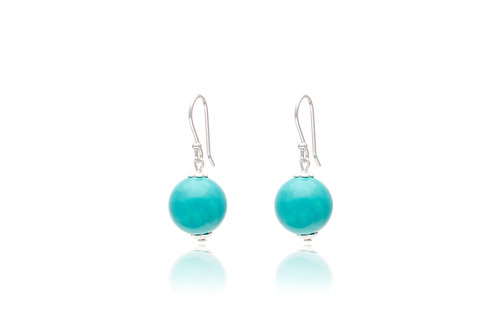 Sterling Silver Turquoise Ball Earring
