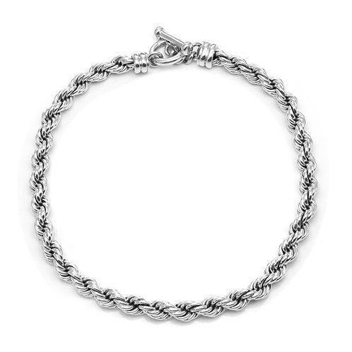 Mexican Silver Rope Necklace