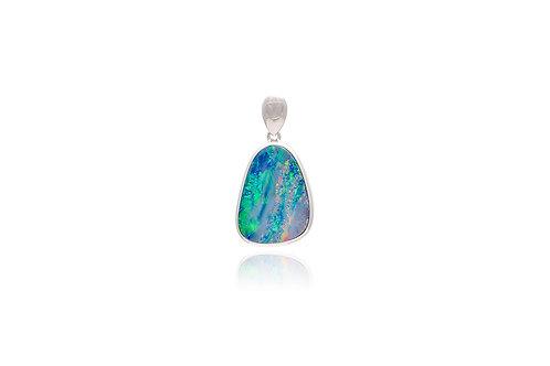 Irregular Shape Opal Silver Pendant