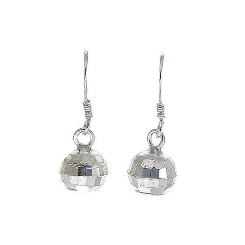 Faceted Ball Earrings (8mm diameter)