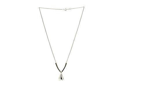 Mexican Sterling Silver Teardrop Y Shape Necklace