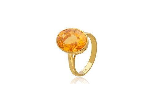 9K Gold Citrine Oval Ring